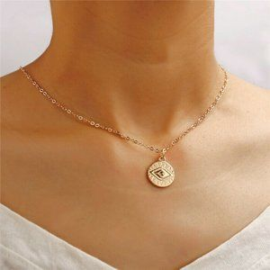 Jewelry - NWOT Gold Egyptian Eye Coin Necklace